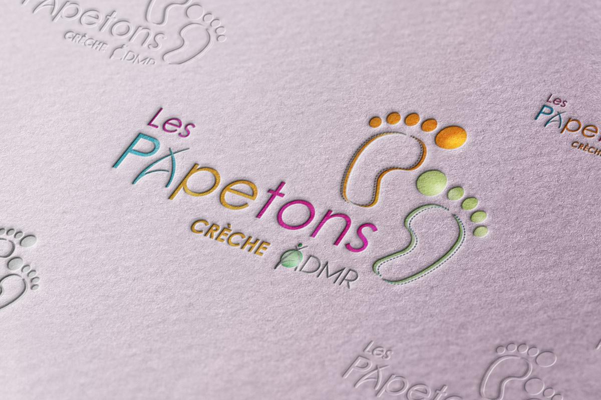 r u00e9alisation logo les papetons