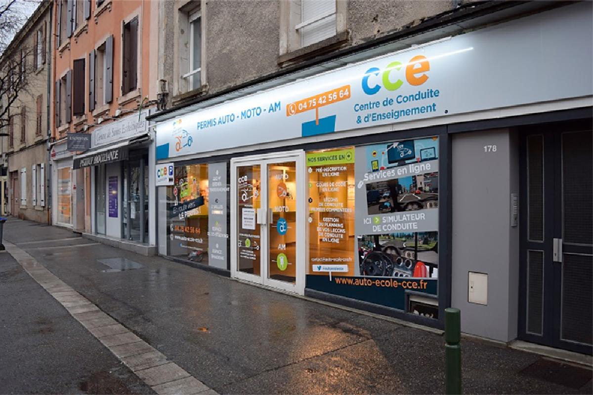 Réalisation Enseigne Perpignan 66000 Pyrénées-Orientales : Auto-École-CCE